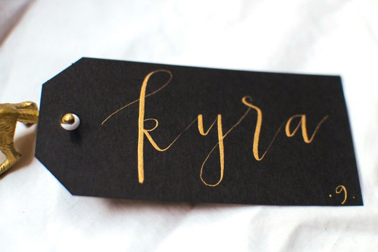modern calligraphy place cards