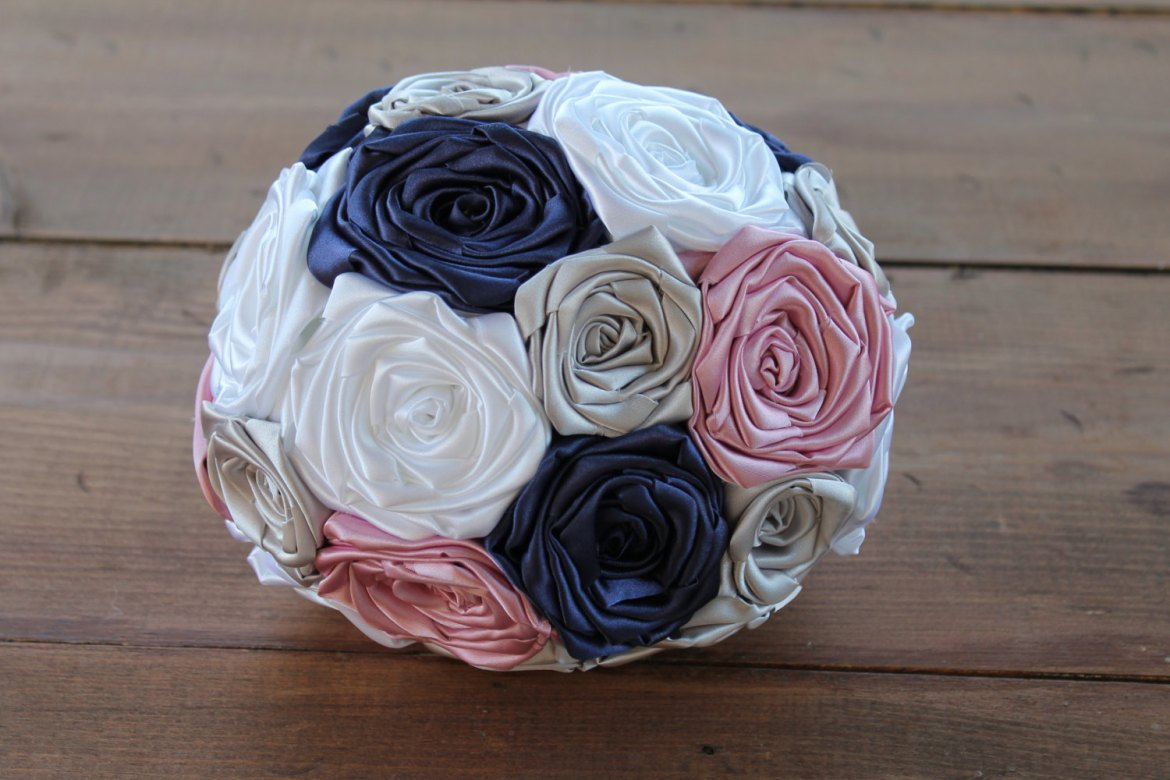 Fabric bridal bouquet by Hey Bouquet | http://etsy.me/2jw3WX0 | via http://emmalinebride.com/bride/fabric-bridal-bouquet/