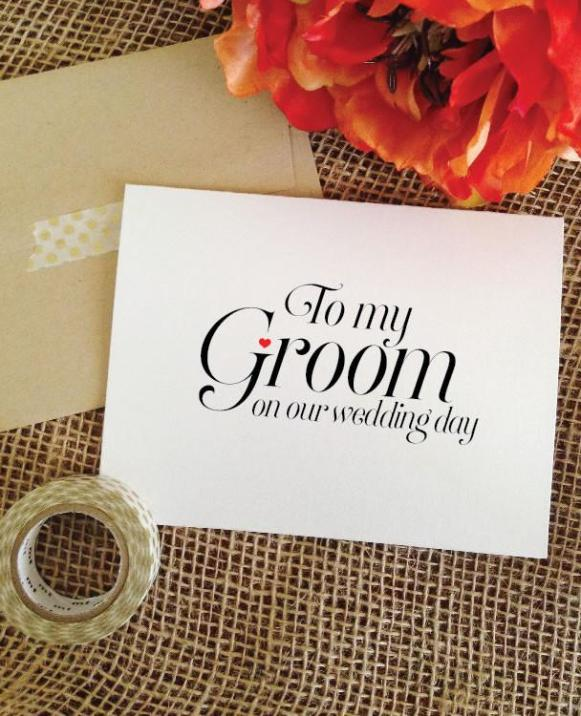 to my groom