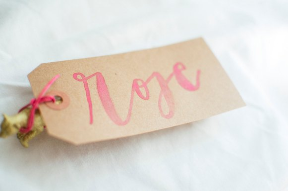watercolor place card tag