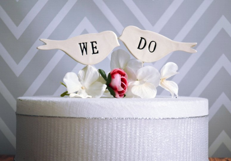 we do bird cake topper