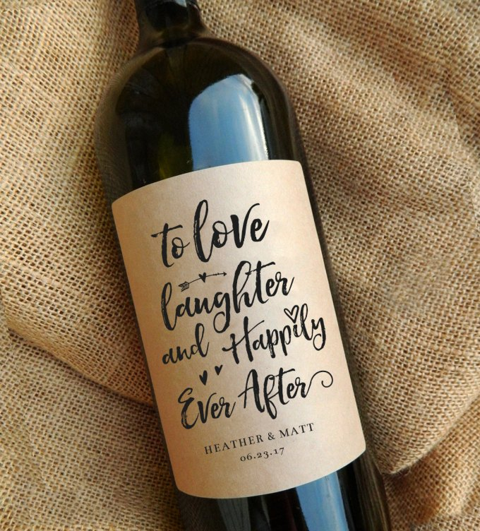 wine labels | via Heart and Arrow Wedding Ideas: http://emmalinebride.com/themes/heart-and-arrow-wedding-ideas
