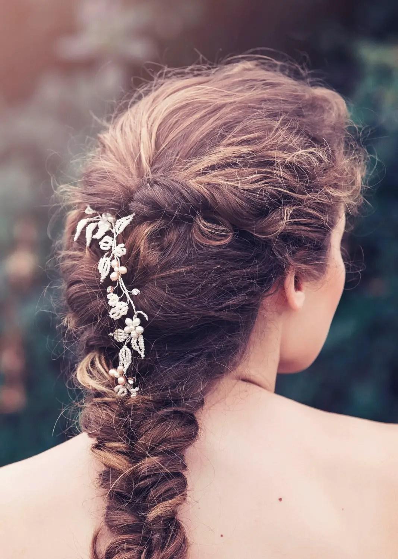 Bridal hair vines for weddings | by Gadegaard Design | photo by Tina Liv | http://emmalinebride.com/bride/bridal-hair-vines-for-weddings/