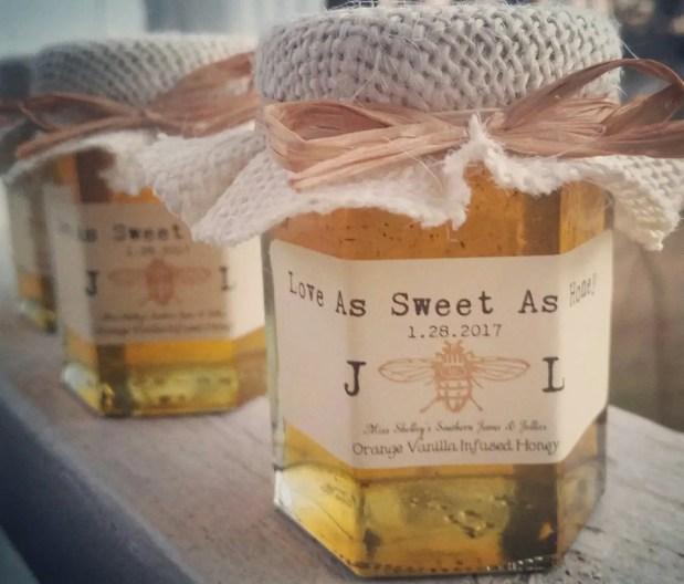 love as sweet as honey wedding favors