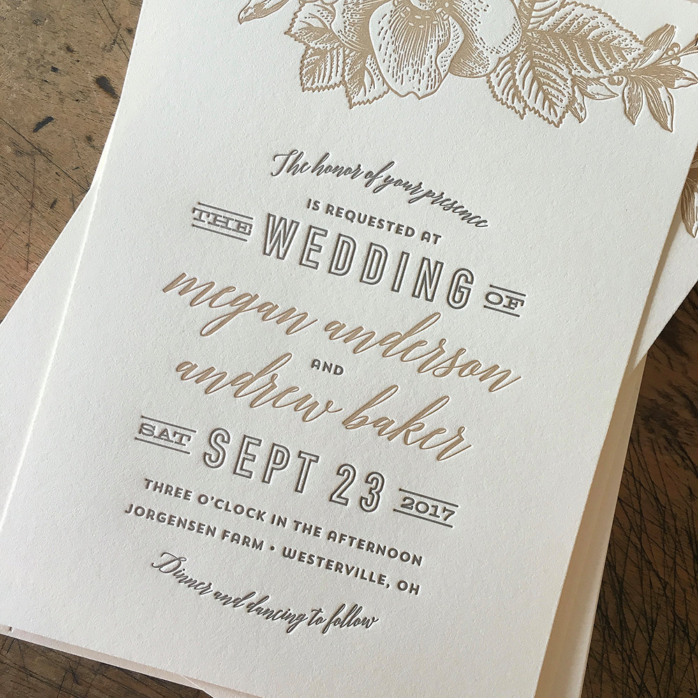 Are Letterpress Invitations Worth It? | Emmaline Bride Wedding Blog