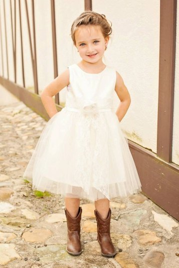 rustic flower girl dresses with boots