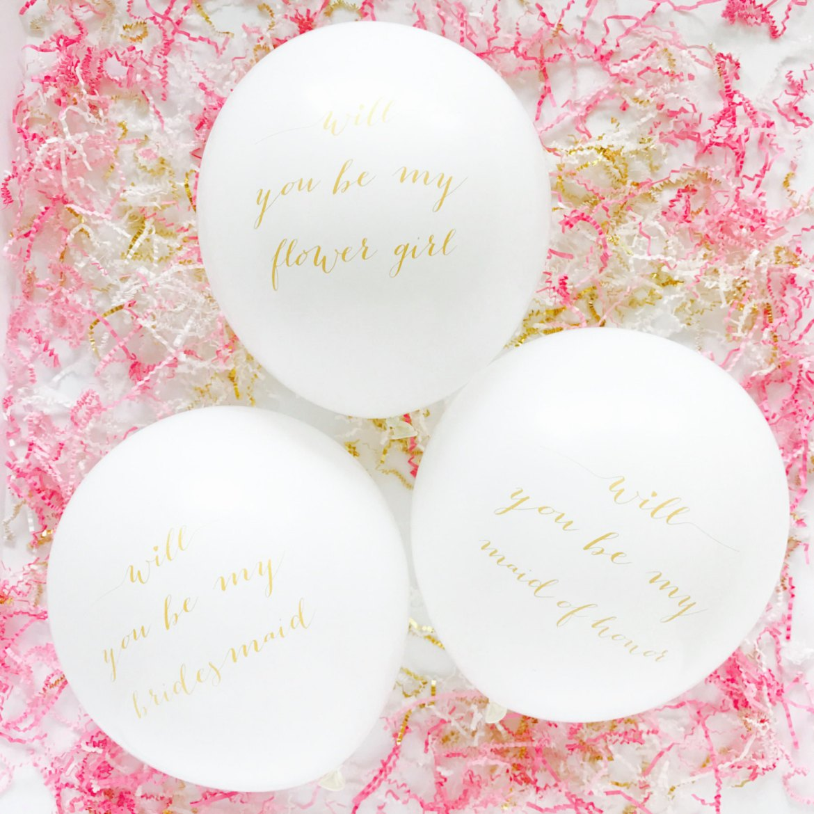 will you be my bridesmaid balloons