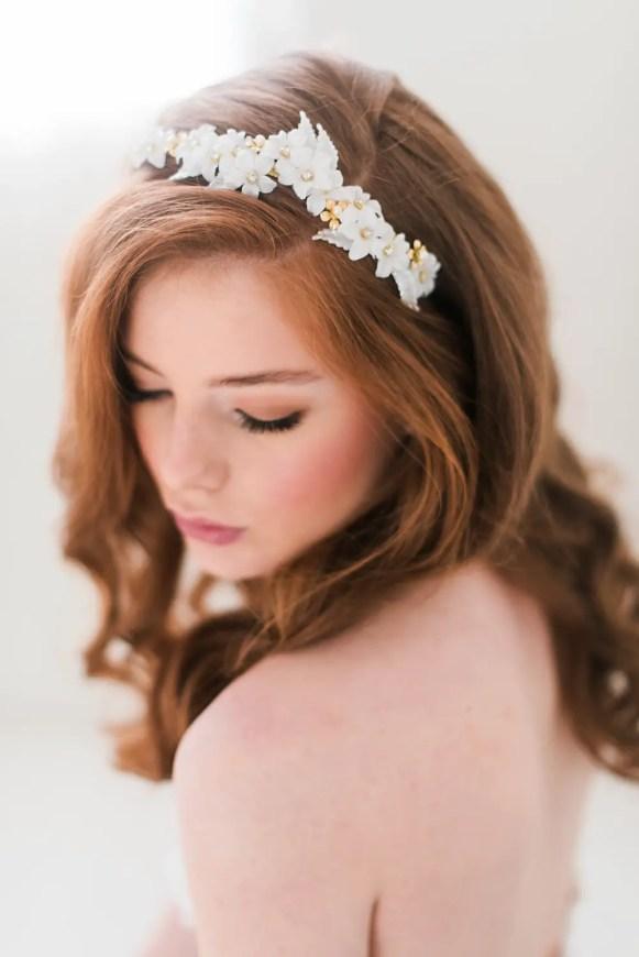 floral headpiece top