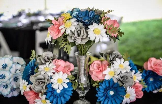 paper bouquets