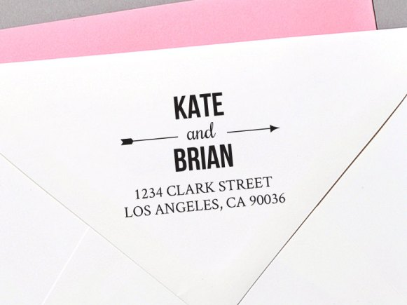 Do You Need Return Address on Save the Dates? | Ask Emmaline | http://emmalinebride.com/invites/return-address-on-save-the-dates/ | stamp by Letter2Love