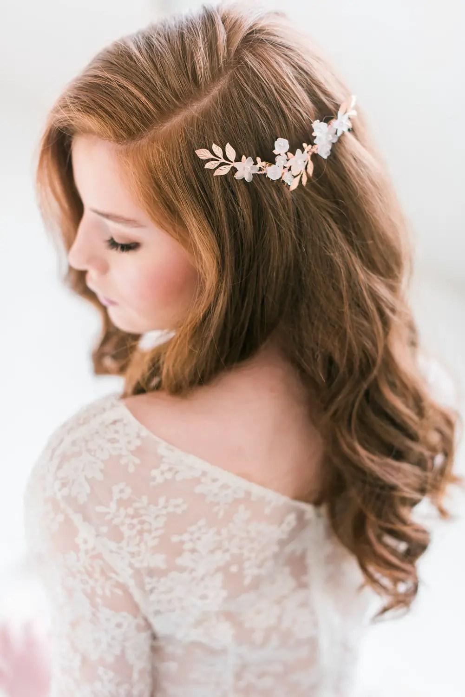 Bridal Hair Accessories Hair Down Styles Tessa Kim Us221