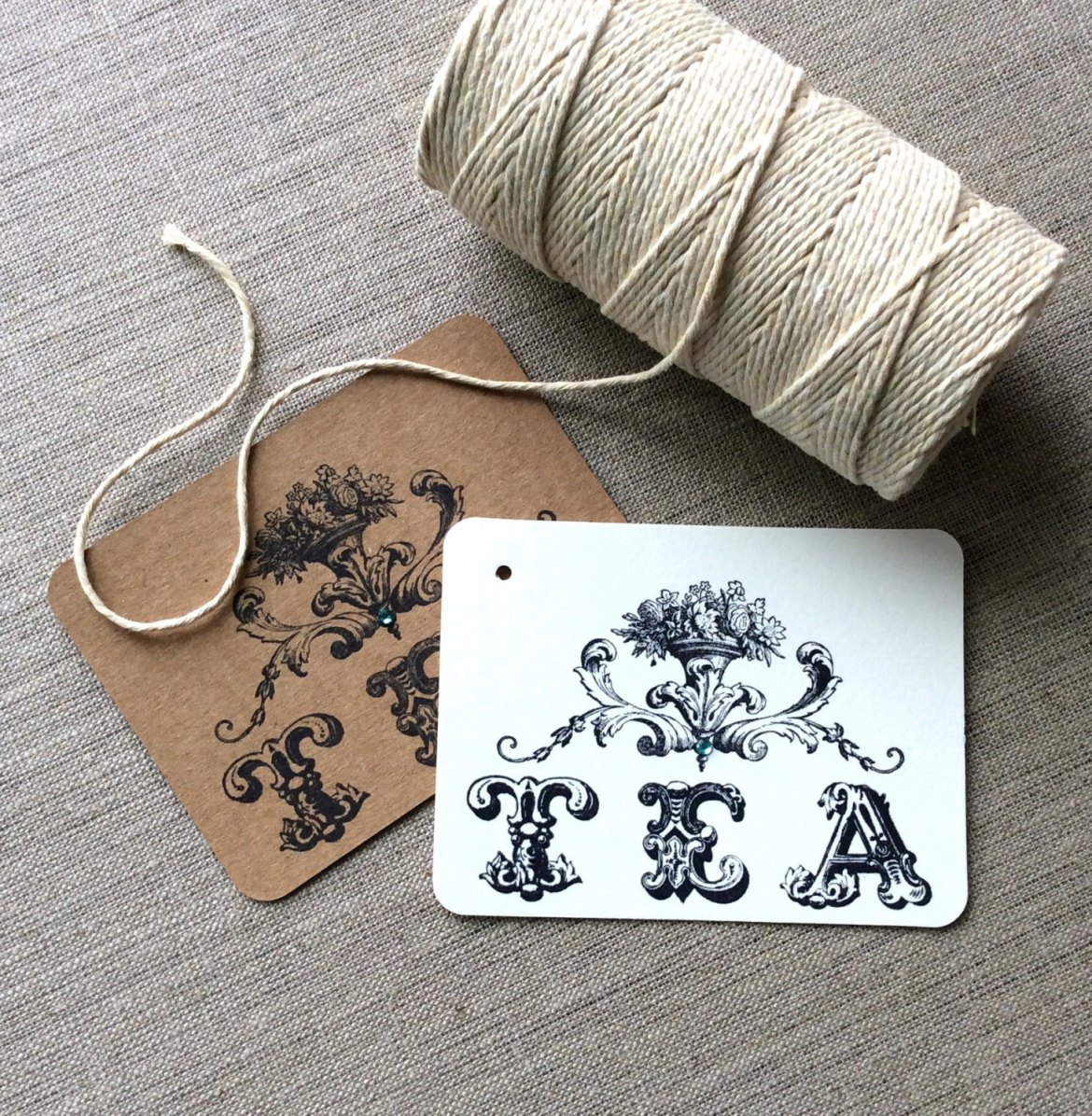 Vintage Inspired Favor Tags | by Beth and Olivia
