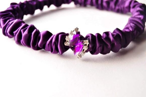 wedding garter sets - purple