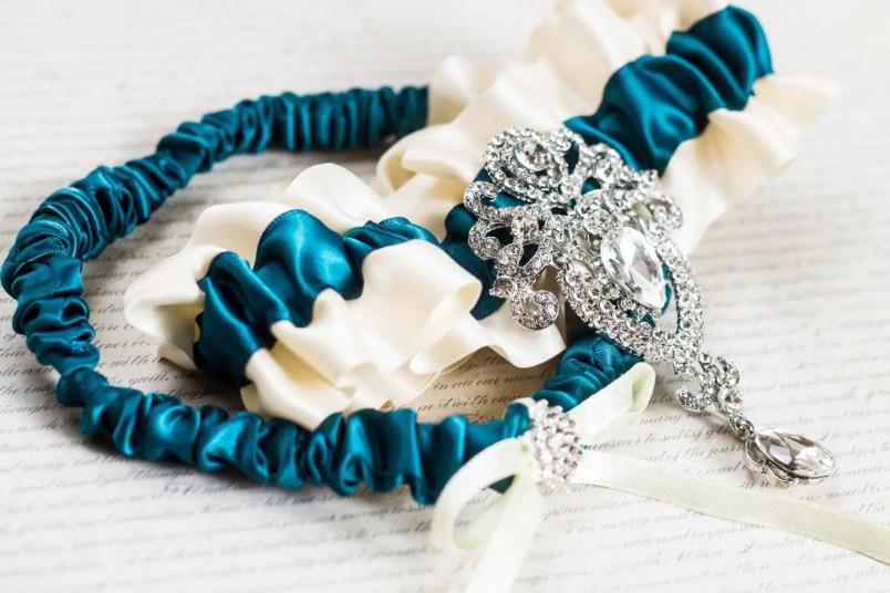 wedding garter sets - turquoise