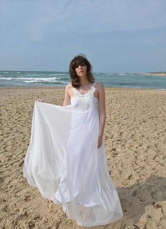 Bohemian Lace Wedding Dresses by Barzelai on Etsy | Emmaline Bride