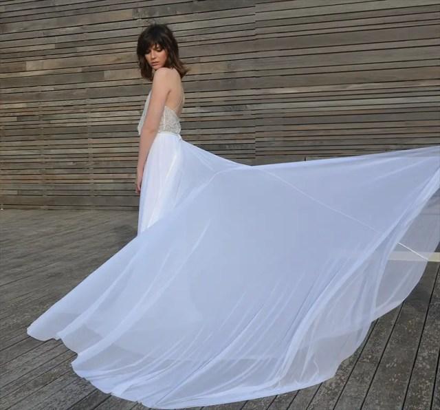 Bohemian Lace Wedding Dresses by Barzelai