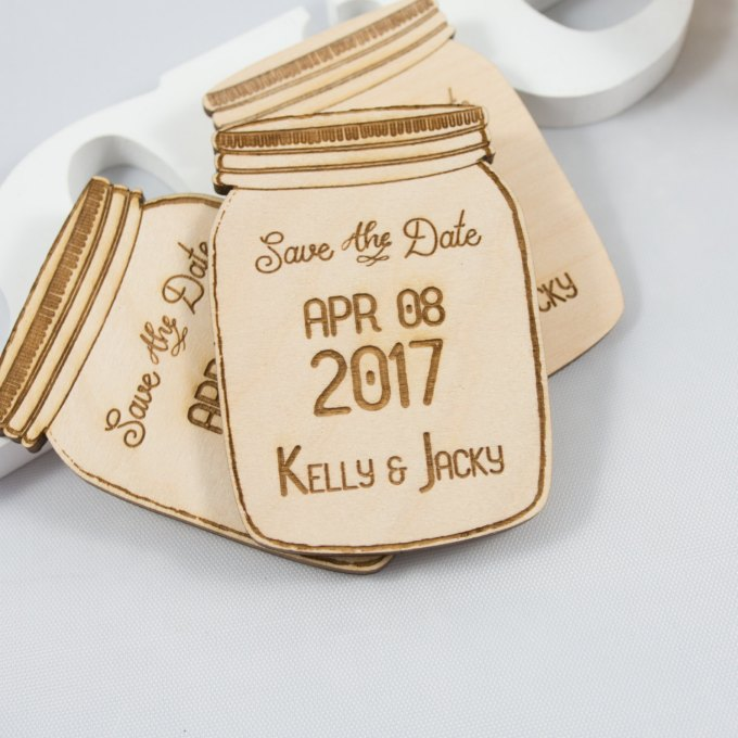mason jar save the date magnets