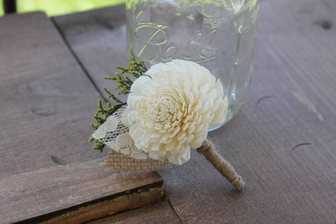 Sola Flower Boutonnieres for Weddings
