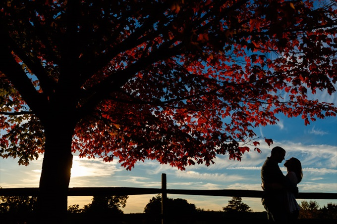 sunsets in fall engagement session| engagement photography by Butler Photography LLC.| Love Fall Weddings? See this Somers, CT Engagement Session - http://emmalinebride.com/real-weddings/love-the-fall-weddings-see-this-somers-ct-engagement-session/