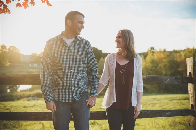 sunset during engagement session| engagement photography by Butler Photography LLC.| Love Fall Weddings? See this Somers, CT Engagement Session - http://emmalinebride.com/real-weddings/love-the-fall-weddings-see-this-somers-ct-engagement-session/