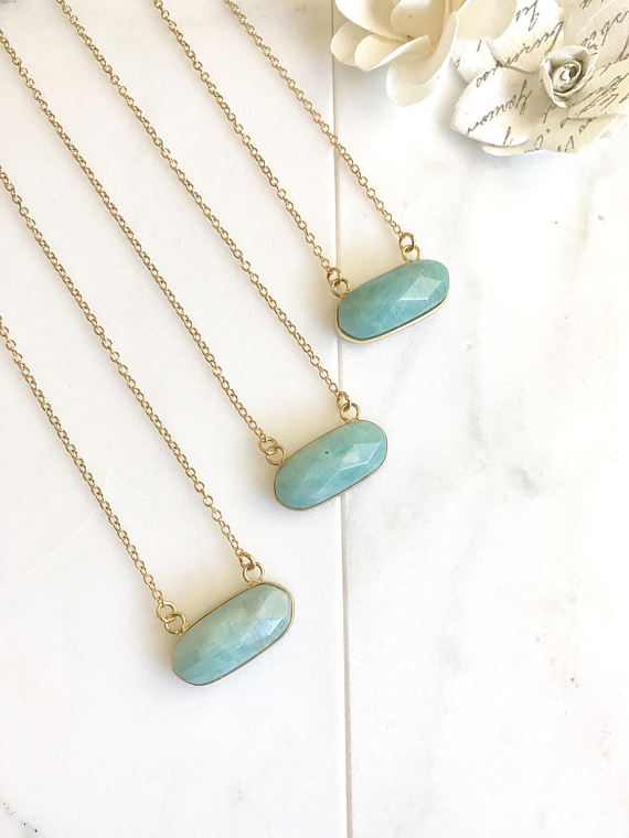 amazonite bar necklace - 1