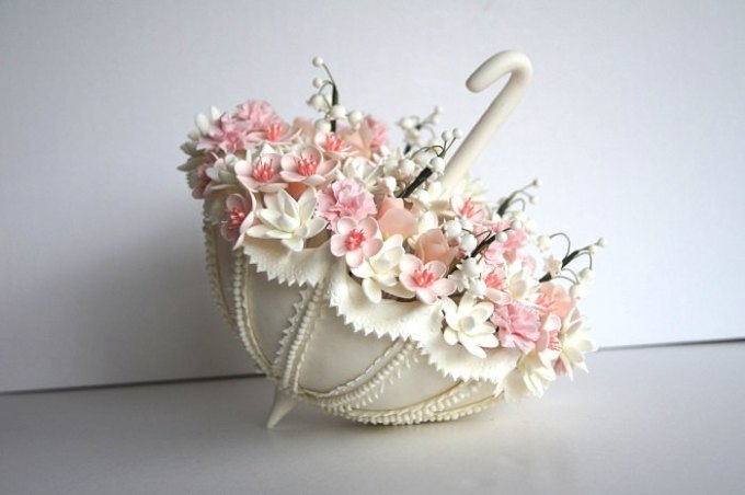 clay wedding flowers
