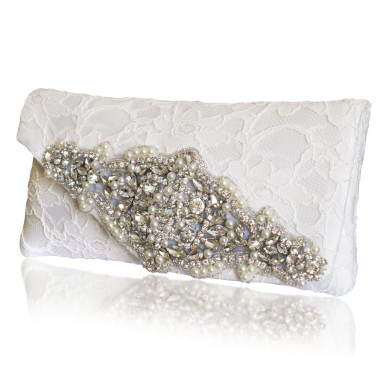 diamante wedding clutch