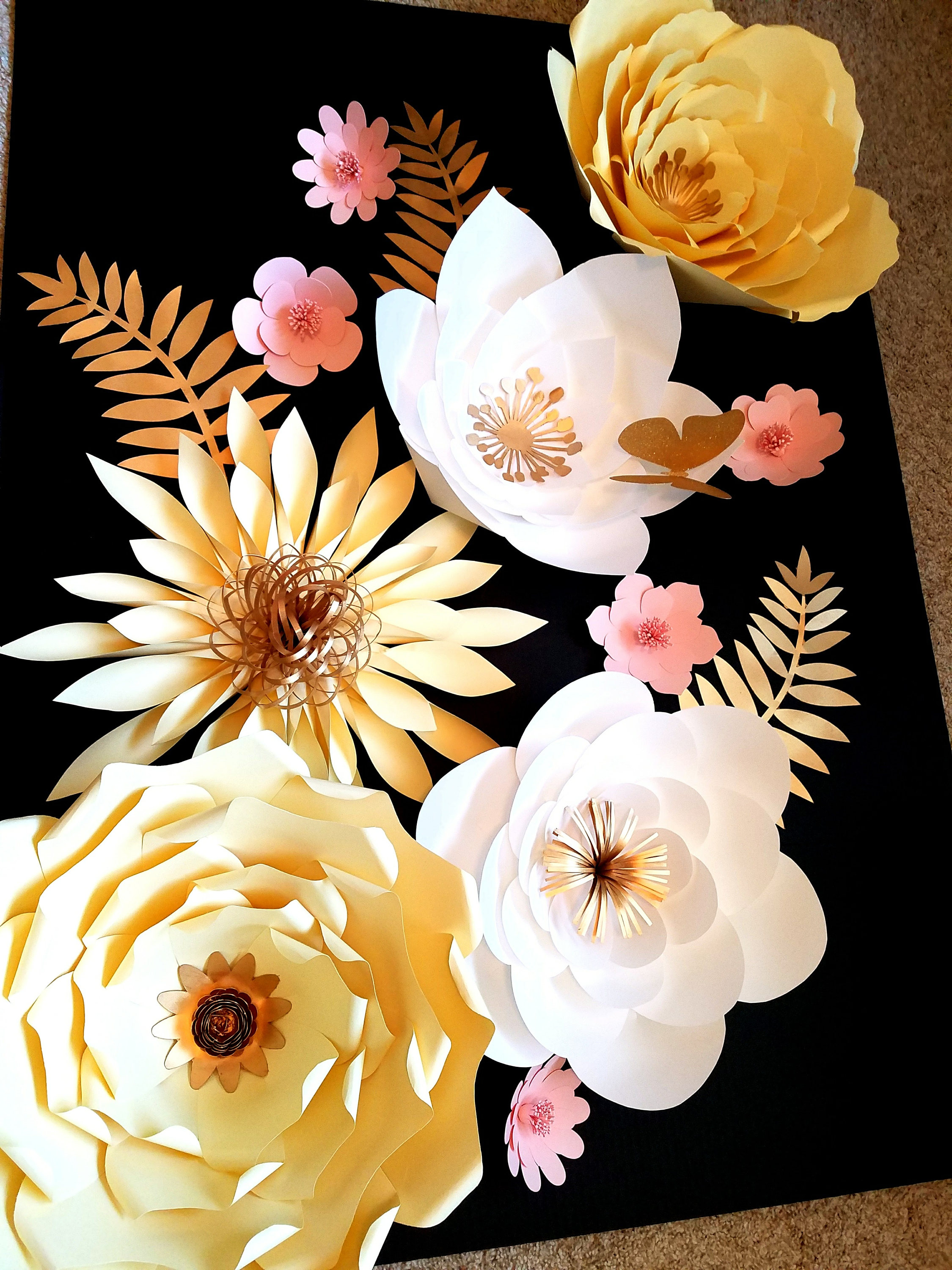 how to make giant paper flowers for wall