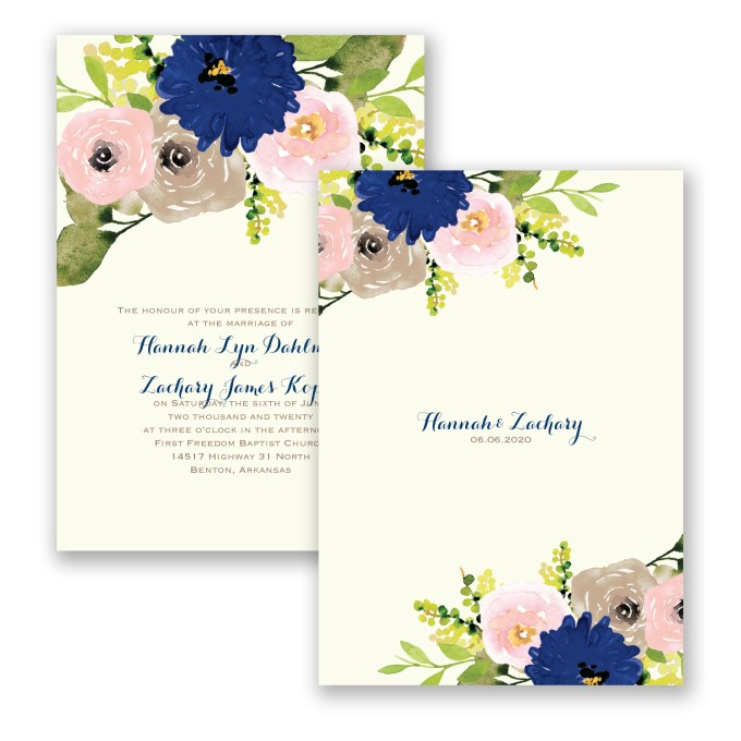 floral invites - where to buy affordable wedding invitations