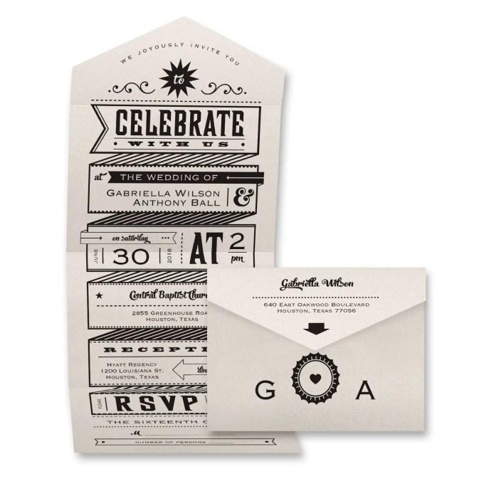 fun invitation design - where to buy affordable wedding invitations