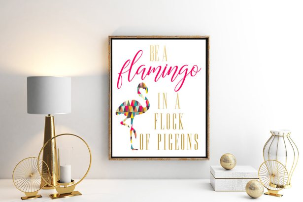 be a flamingo by ErinDianeCo