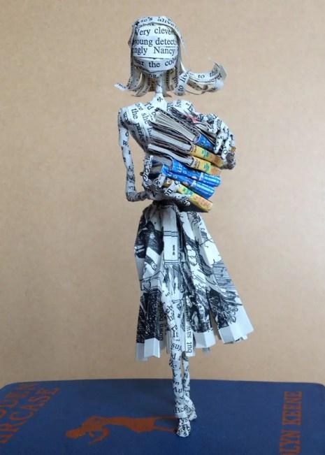 book sculpture nancy drew by ThePoetTrees