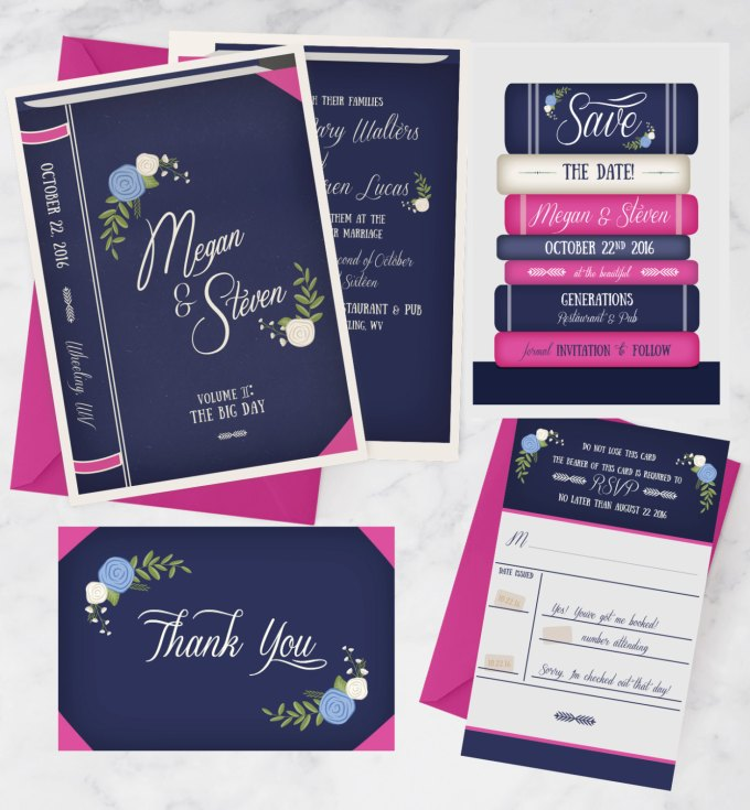 Wedding Invitation Book Style: 50 Best Book Themed Wedding Ideas