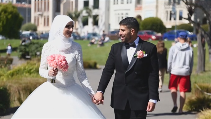 An Amazing Arabic Wedding on Video at the Fairmont Hotel - http://emmalinebride.com/real-weddings/an-amazing-arabic-wedding-on-video-at-the-fairmont-hotel | Baby Blue Film - San Francisco Wedding Videographer