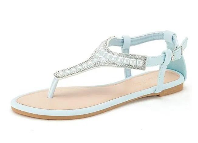 light blue sandals - most comfortable wedding shoes