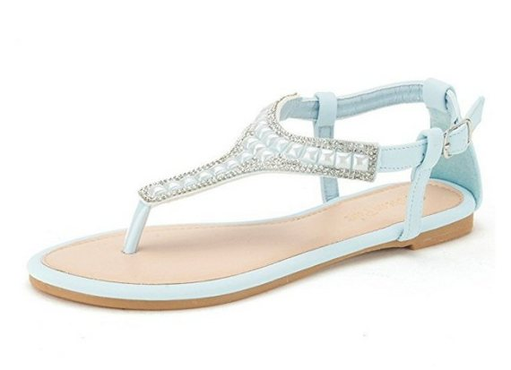 light blue sandals - most comfortable wedding shoes