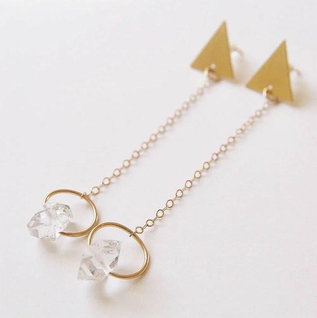herkimer diamond earrings   via http://etsy.me/2teyINF