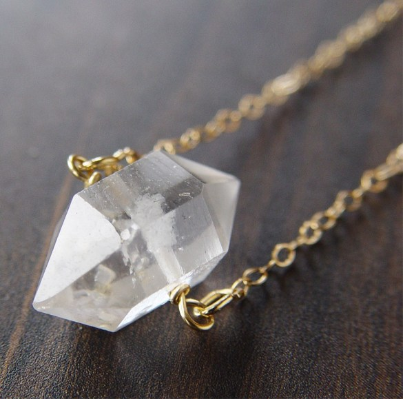 herkimer diamond necklace | via http://etsy.me/2teyINF