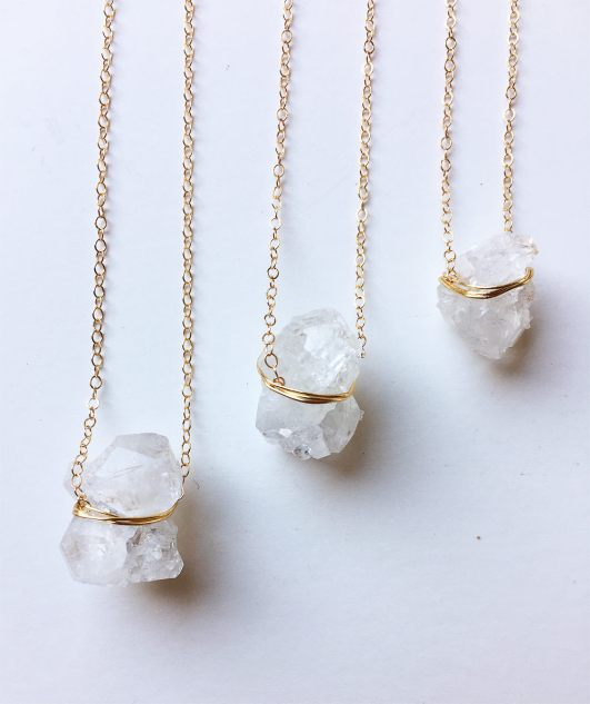 herkimer diamond necklace   via http://etsy.me/2teyINF