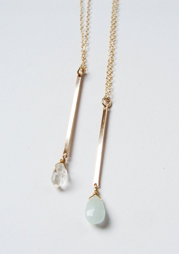 herkimer diamond necklace and earrings   via http://etsy.me/2teyINF