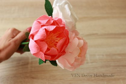 peony bouquet made of paper