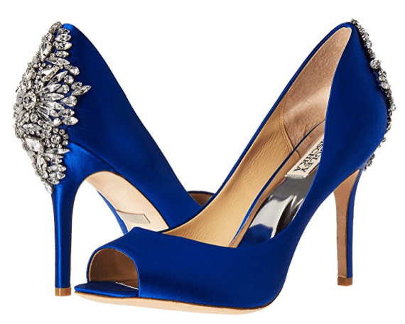 24 Best Something Blue Wedding Shoes: Low Heel, High Heel