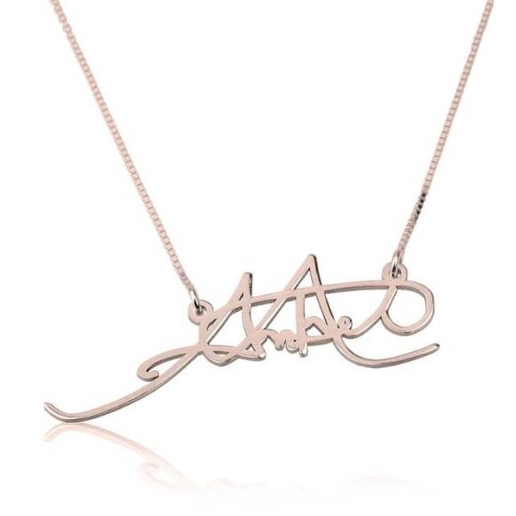 rose gold signature necklace