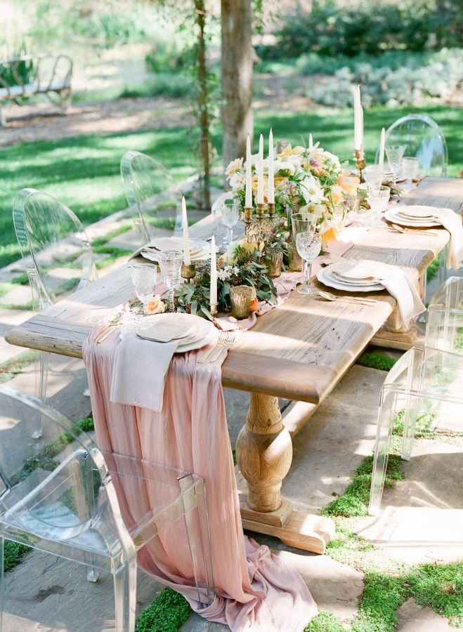 Where To Buy Chiffon Table Runners For Weddings Blush Pink