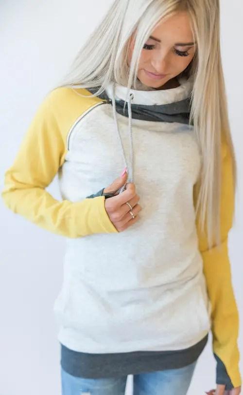 mustard yellow bridesmaid sweatshirts - 2
