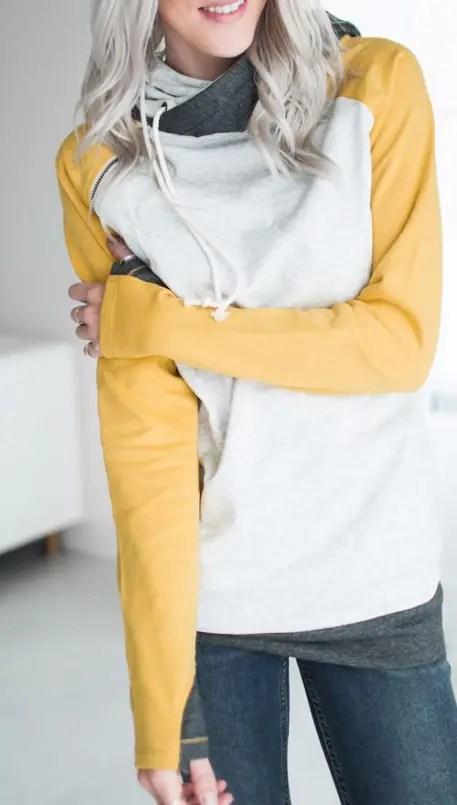 mustard yellow bridesmaid sweatshirts