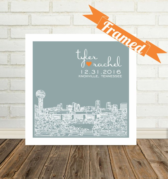 city skyline wall art knoxville tennessee