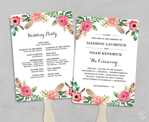 awesome diy wedding fan programs contemporary styles ideas 2018