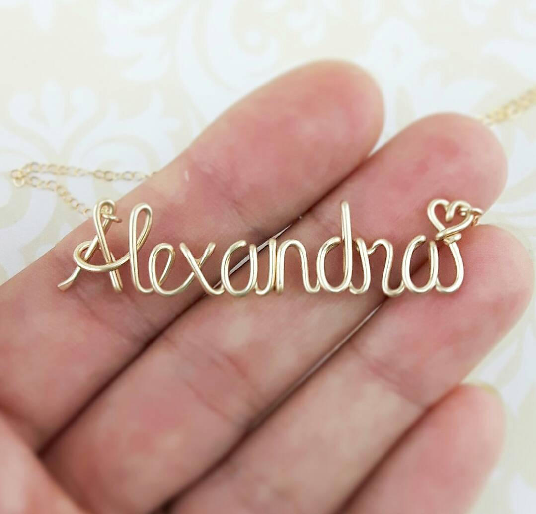 Wire Name Necklace Etsy Find -- Handmade-a-Day | Emmaline Bride®