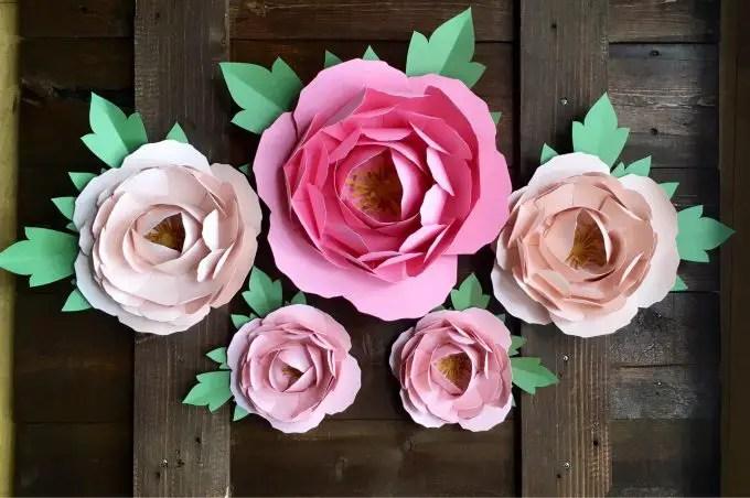 paper peony flowers